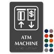 ATM Machine TactileTouch Braille Sign with Graphic