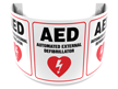 180 Degree Projecting Automated External Defibrillator Sign