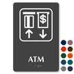 ATM TactileTouch Braille Sign with Graphic