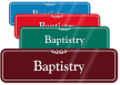 Baptistry ShowCase Wall Sign