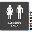 Bilingual Bathroom Tactile Touch Braille Door Sign