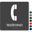 Teléfono Spanish Tactile Touch Braille Sign