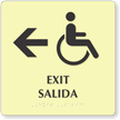 Bilingual Exit Left Arrow Sign