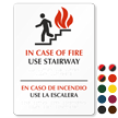 Bilingual In Case of Fire Braille Sign, 8in. x 11in.