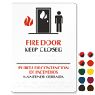 Fire Door Keep Closed (bilingual) Sign
