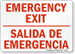 Bilingual Emergency Exit Salida De Emergencia Sign