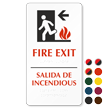 Fire Exit (left arrow) (bilingual) Sign