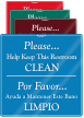 Bilingual Keep This Restroom Clean ShowCase Wall Sign