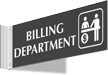 Billing Department Corridor Projecting Sign