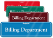 Billing Department Showcase Hospital Sign