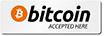 Bitcoin Printed Sign