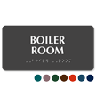 Braille Tactile Touch Boiler Room Sign