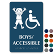 Boys Accessible Room Braille Sign