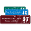Boys Girls Unisex Room Custom Sign