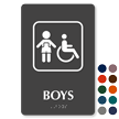 9 in. x 6 in. TactileTouch™ Braille Restroom Sign