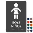 Tactile Touch Braille Bilingual Sign for Boys