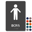 Boys Restroom Braille Sign