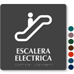 Escalera Electrica Spanish Tactile Touch Braille Sign
