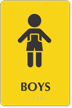 Boys Restroom Sign