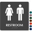 Restroom Men Women Sign