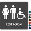 9in. x 9in. TactileTouch™ Braille Restroom Sign