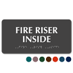 Fire Riser Inside TactileTouch™ ADA Sign with Braille
