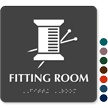 TactileTouch™ Fitting Room Sign with Braille