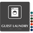 TactileTouch™ Guest Laundry Sign with Braille