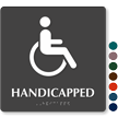 TactileTouch Handicapped Sign with Braille