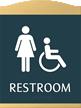 Esquire Restroom Braille Sign