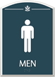 Men, with Graphic and Braille Sign