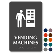 Vending Machines Symbol TactileTouch™ Sign with Braille