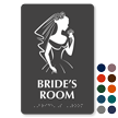 Bride's Room Braille Sign