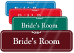 Bride's Room ShowCase Wall Sign