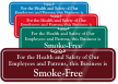 For Safety Of Employees Smoke Free Building Sign