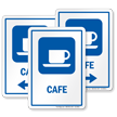 Café Sign With Cup and Saucer Symbol