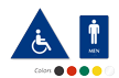 Accessible Pictogram Men Sign