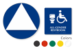 California Wall and Door Sintra All-Gender Restroom Sign Kit