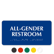 California All-Gender Restroom Wall Sign with Braille, 4in. x 8in.