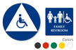 California Wall & Door Family Restroom Sign Kit