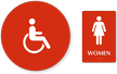 Accessible Women Pictogram Sign