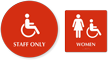 California Wall And Door ADA Staff Women Restroom Sign Kit