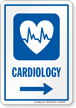 Cardiology Right Arrow Hospital Sign