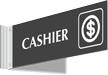 Cashier Above Door Corridor Sign