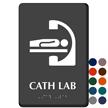 Cath Lab Braille Sign, Diagnostic Imaging Equipment Symbol