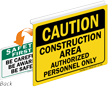 Caution Construction Area Safety First Sign