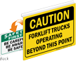 Caution Forklift Trucks Operating Safety First Sign
