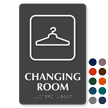 Changing Room with Symbol TactileTouch™ Sign with Braille
