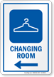 Changing Room Left Arrow Hospital Sign