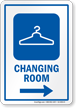 Changing Room Right Arrow Hospital Sign